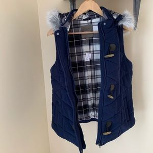 Maurices Hooded Vest Faux Fur